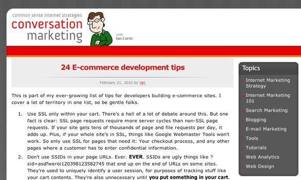 24 ecommerce tips