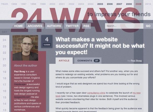 24 ways website