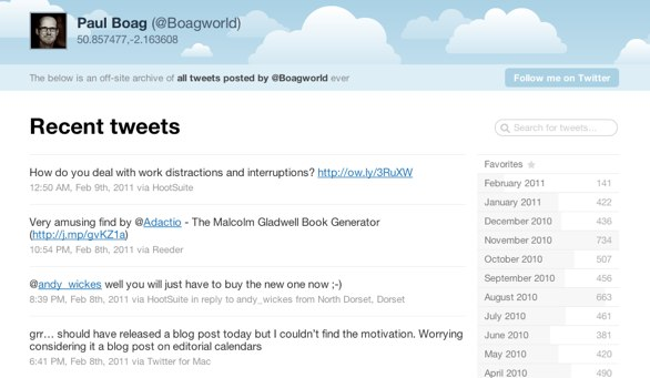 Boagworld Tweetnest
