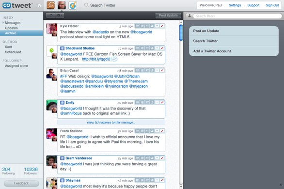 Screenshot of cotweet