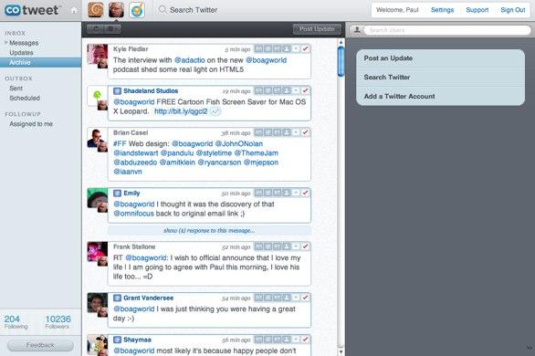 Screenshot of cotweet