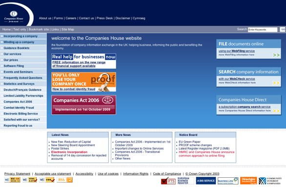 Companies House website