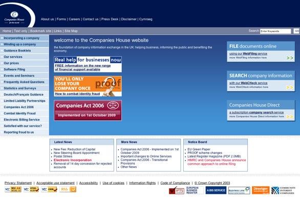 Companies House website