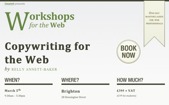 Copywriting on the web workshop