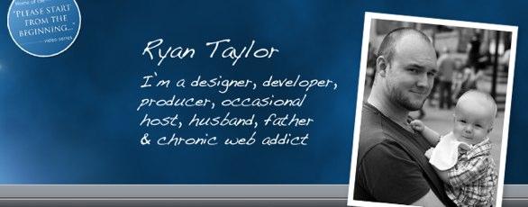 Screenshot from Ryan's Website