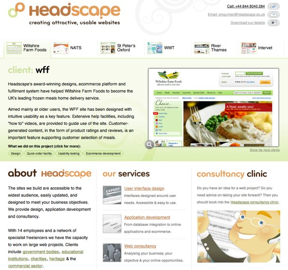 Headscape website