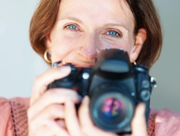 Jill holding her camera