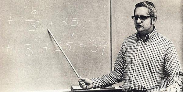 Teacher teaching maths