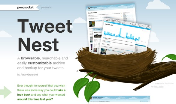 Tweet Nest website