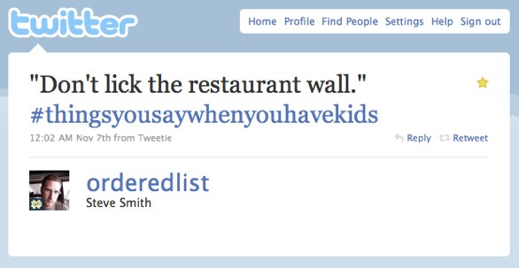 Dont lick the restaurant wall