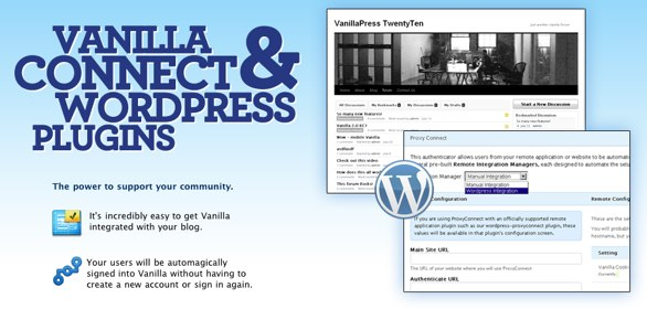Vanilla's WordPress integration