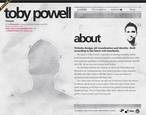 Toby Powell's About Me Page