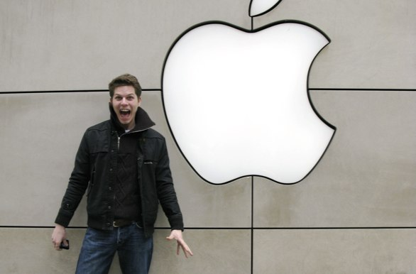 An overexcited Apple fanboy