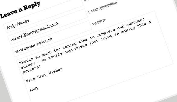 Sample feedback form