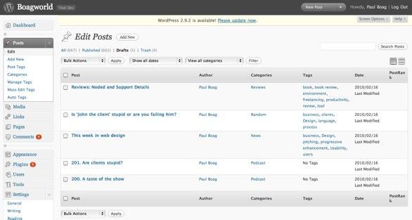 My Blog Ideas List