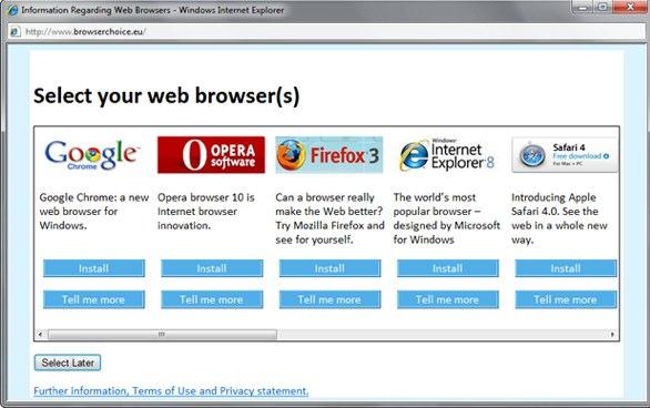 Browser Choice Screen
