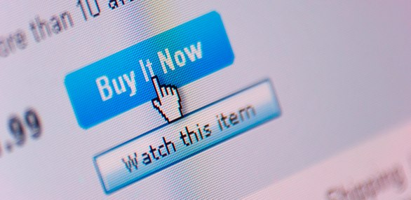 User clicking on a buy now button