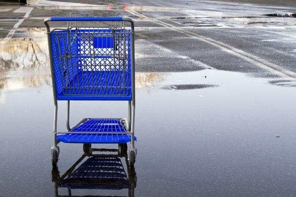 Abadnoned shopping cart