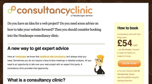 Consultancy Clinic Website