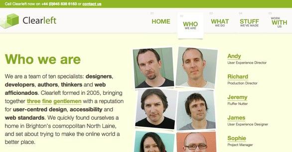 clearleft website