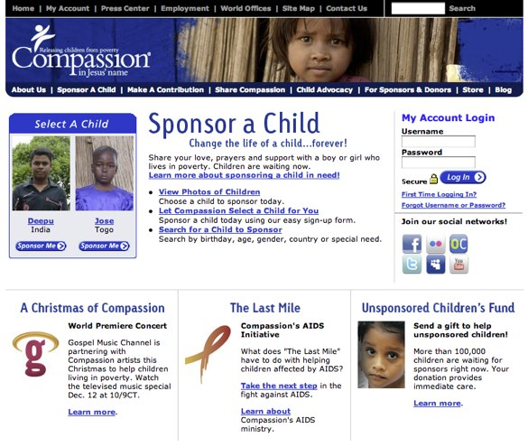 Compassion website
