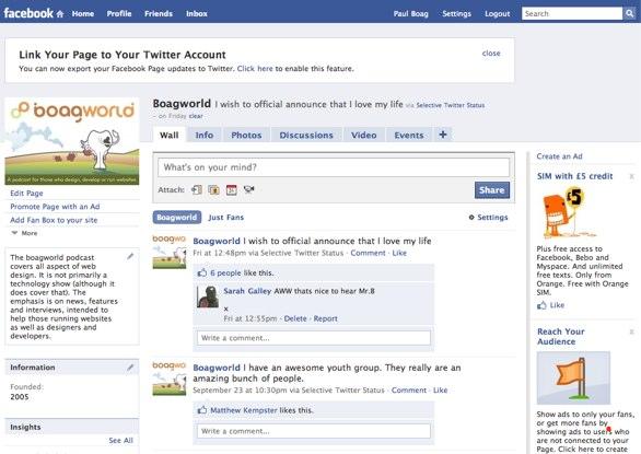 The Boagworld Facebook Page