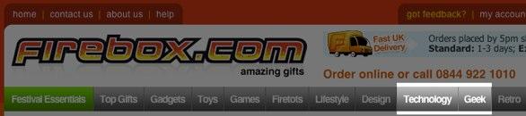 firebox website navigation