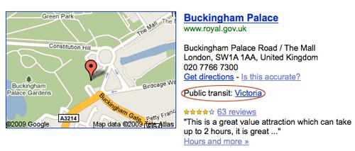 google pubic transit