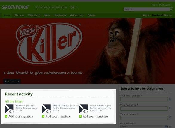 Greenpeace website