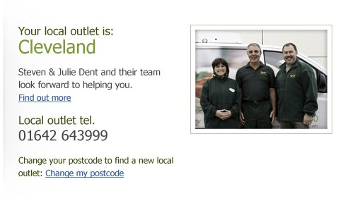 We turned the WFF weakness into a strength by using post code entry as a way of meeting your local franchisee.