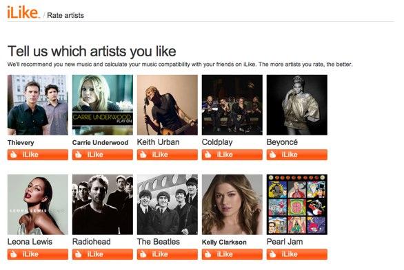 iLike Rate Artists