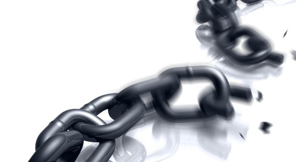 image of broken chain