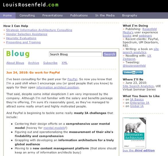 Lou Rosenfeld Blog