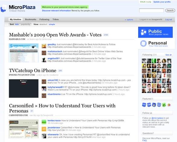 Microplaza homepage