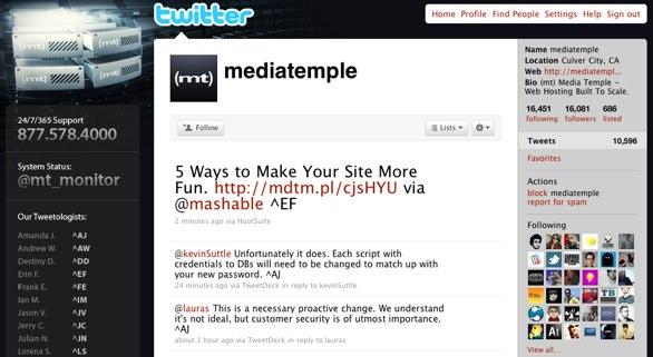 Media Temple on Twitter