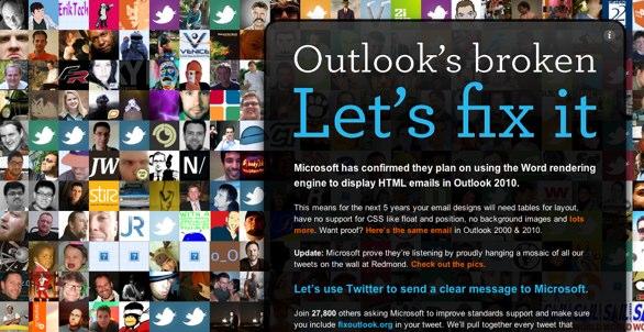 Outlook's broken campaign