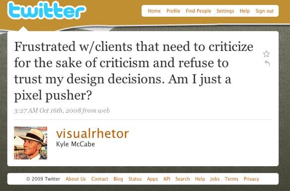 Bài đăng từ Twitter phàn nàn về việc trở thành một người đẩy pixel