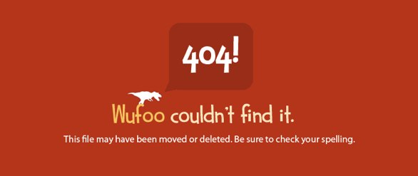 404 error page from Wufoo.com