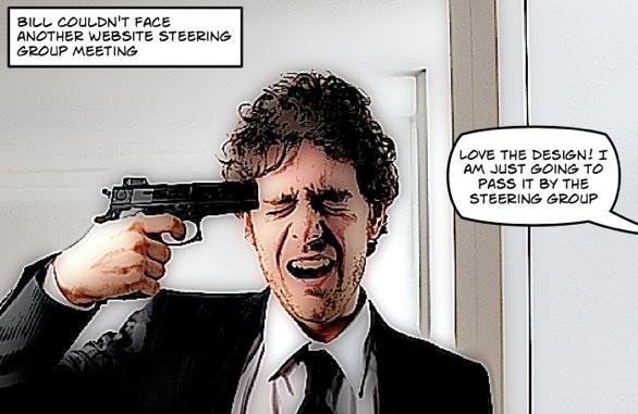 Designer with a gun to his head