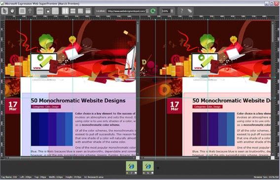 Screenshot of Superpreview