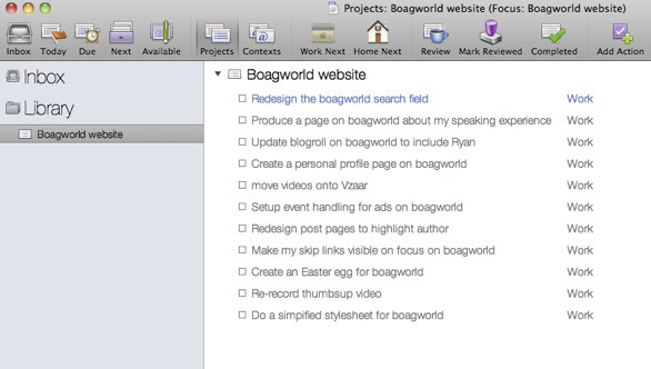 Boagworld task list