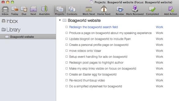 Boagworld task list