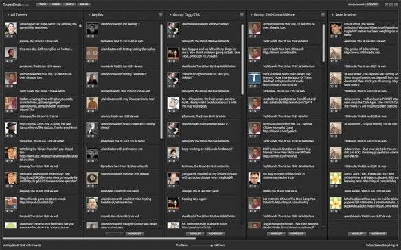 Screenshot of Tweetdeck
