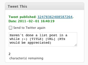 Tweet This WordPress Plugin