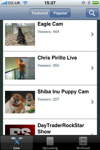 uStream iPhone Application