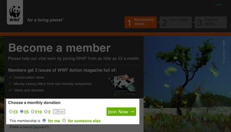 World Wildlife Fund website